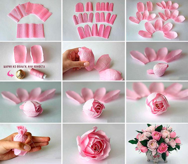 Делаем своими руками маленькие цветочки 28